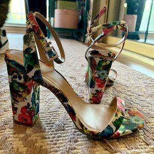 ASOS Shoes - ASOS Floral Strappy Heels